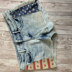 Mossimo Supply Co. Shorts with Stars & Stripes sz7